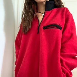 Vintage Red Old Navy Embroidered Pullover